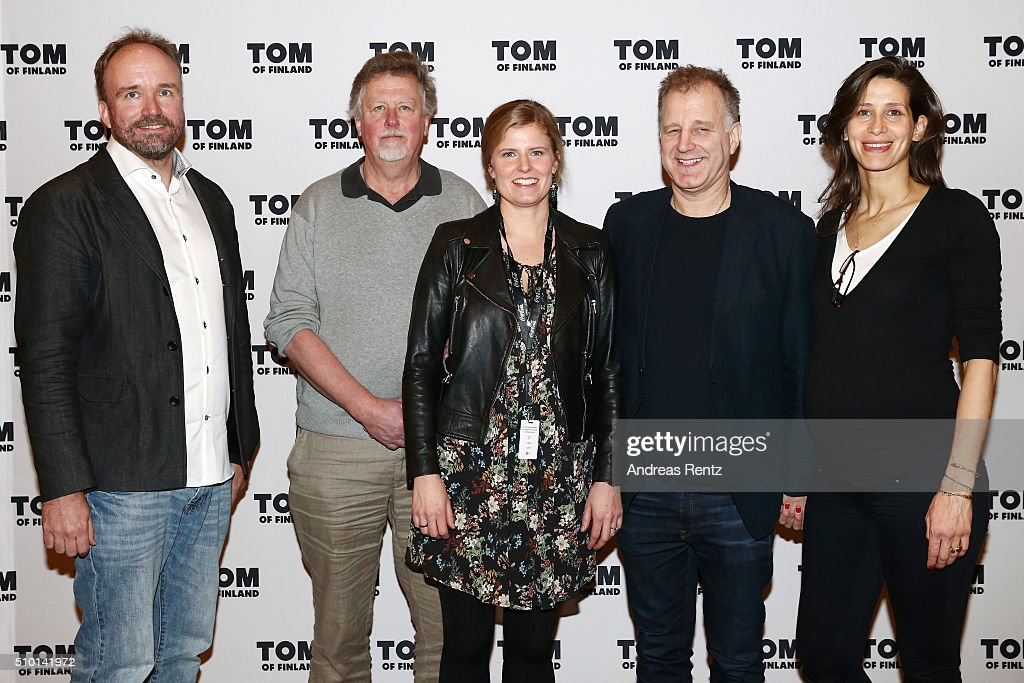 Producers Aleksi Bardy, Gunnar Carlsson, Annika Sucksdorff, Ingvar Thordarson and Sophie Mahlo attend the 'Tom of Finland' press conference during the 66th Berlinale International Film Festival Berlin at Ritz Carlton on February 14, 2016 in Berlin, Germany.