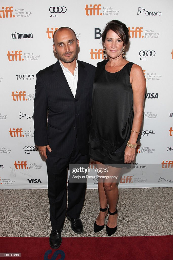 Producers Amir Bar-Lev and Meghan O'Hara attend the '12.12.12.' premiere during the 2013 Toronto International Film Festival at Winter Garden Theatre on September 8, 2013 in Toronto, Canada.