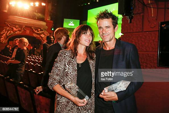 Producers and award winners Marie SteinmannTykwer and her husband Tom Tykwer during the First Steps Awards 2016 at Stage Theater on September 19 2016...