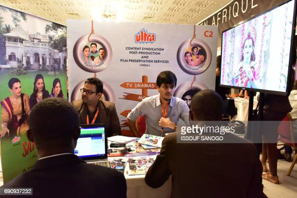 Producers and TV broadacasters meet at the Panafrican market for creation production and distribution of audiovisual contents on May 31 in Abidjan /...