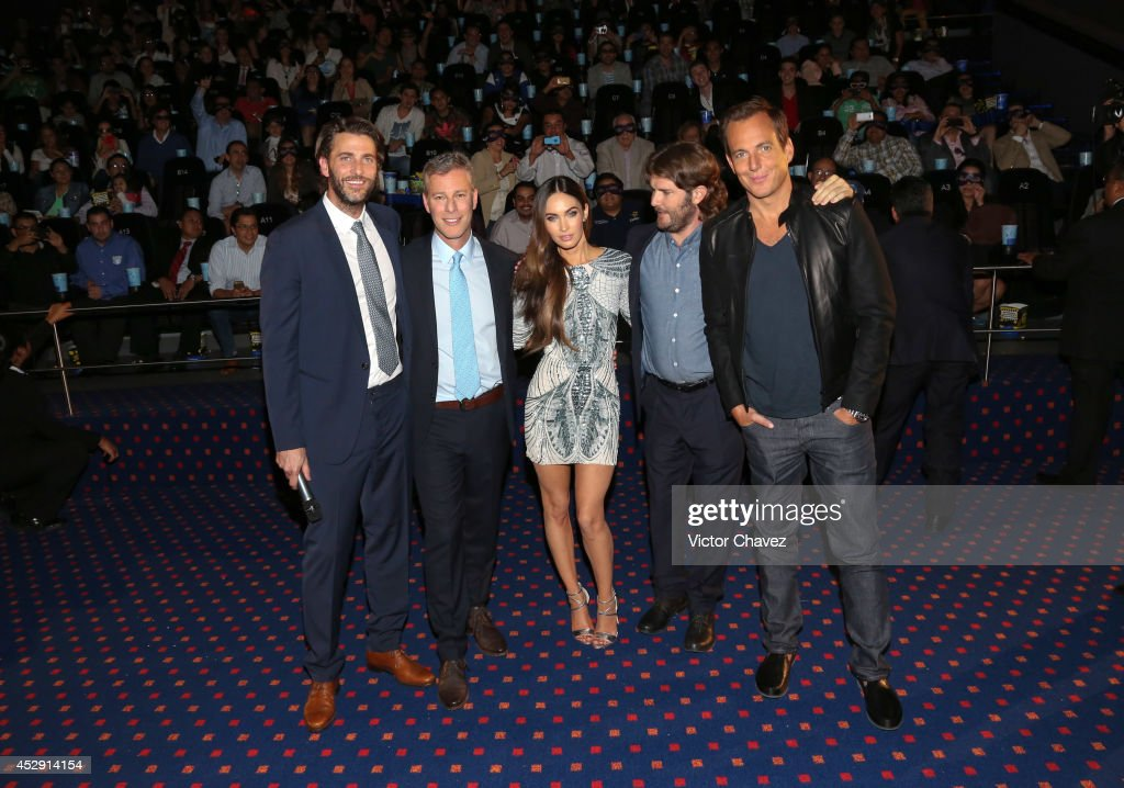 Producers Andrew Form and Brad Fuller, actress <a gi-track='captionPersonalityLinkClicked' href=/galleries/search?phrase=Megan+Fox&family=editorial&specificpeople=2239934 ng-click='$event.stopPropagation()'>Megan Fox</a>, director Jonathan Lieberman and actor Will Arnett attend the Latin American Premiere of Paramount Pictures' 'Teenage Mutant Ninja Turtles' at Cinepolis Acoxpa, on July 29, 2014 in Mexico City, Mexico.