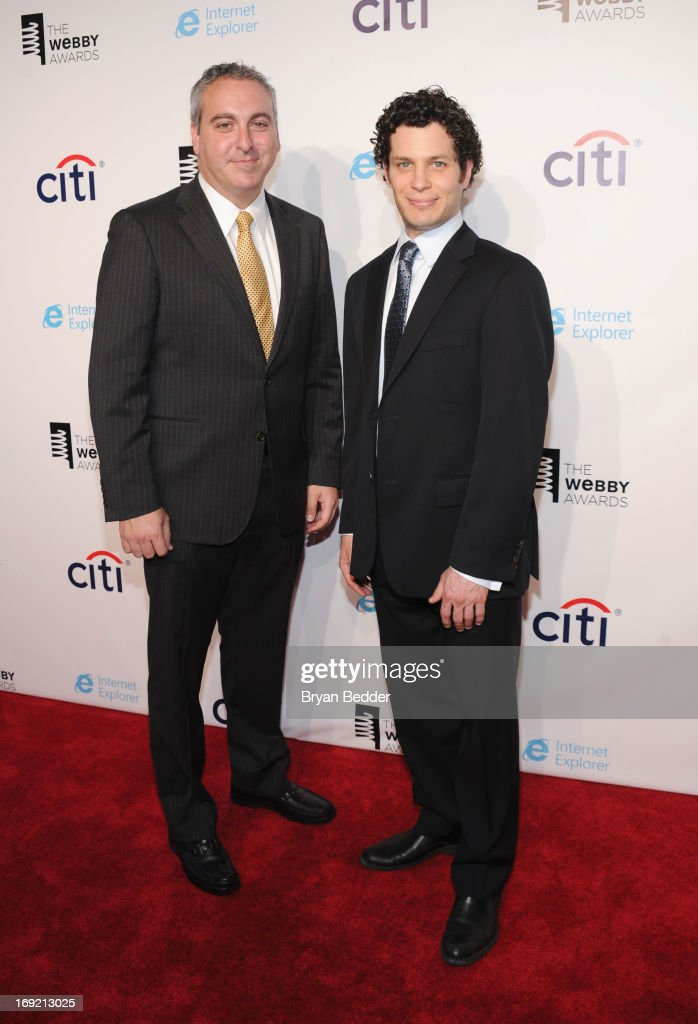 Producers Andrew Fried and Thomas Kail attend the 17th Annual Webby Awards at Cipriani Wall Street on May 21, 2013 in New York City.