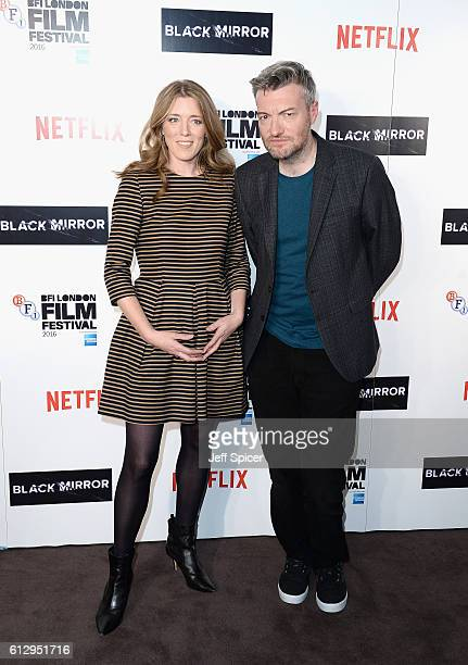 Producers Annabel Jones and Charlie Brooker attend the LFF Connects Television 'Black Mirror' screening during the 60th BFI London Film Festival at...
