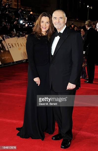 Producers Barbara Broccoli and Michael G Wilson attend the Royal World Premiere of 'Skyfall' at the Royal Albert Hall on October 23 2012 in London...
