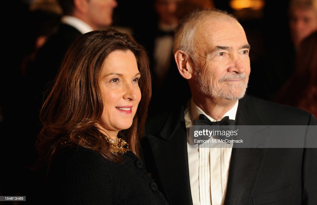 Producers <a gi-track='captionPersonalityLinkClicked' href=/galleries/search?phrase=Barbara+Broccoli&family=editorial&specificpeople=2206655 ng-click='$event.stopPropagation()'>Barbara Broccoli</a> and <a gi-track='captionPersonalityLinkClicked' href=/galleries/search?phrase=Michael+G.+Wilson+-+Screenwriter&family=editorial&specificpeople=3963241 ng-click='$event.stopPropagation()'>Michael G. Wilson</a> attend the Royal World Premiere of 'Skyfall' at the Royal Albert Hall on October 23, 2012 in London, England.