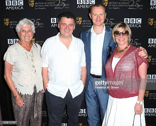 Producers Beryl Vertue Steven Moffat Mark Gatiss and Sue Vertue attend BAFTA LA TV Tea 2012 Presented By BBC America at The London Hotel Hollywood on...
