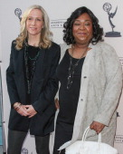 Producers Betsy Beers and Shonda Rhimes attend the Academy Of Television Arts Sciences presentation of 'Welcome To ShondaLand An Evening With Shonda...