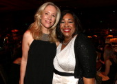 Producers Betsy Beers and Shonda Rhimes attend Women In Film 2014 Crystal Lucy Awards presented by MaxMara BMW PerrierJouet and South Coast Plaza...