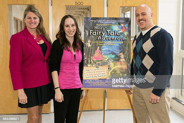 Producers Bonnie Comley Alyssa Renzi and James Beneduce pose together Moey's Fairytale Adventure World Premiere at Dix Hills Performing Arts Center...