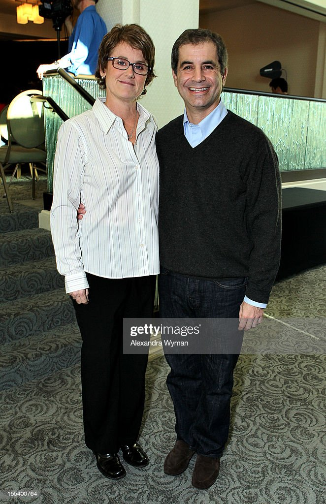 Producers Bonnie Curtis and Victor Levin at 'A Conversation with Bonnie Curtis and Victor Levin' at the Loews Santa Monica Beach Hotel on November 3, 2012 in Santa Monica, California.