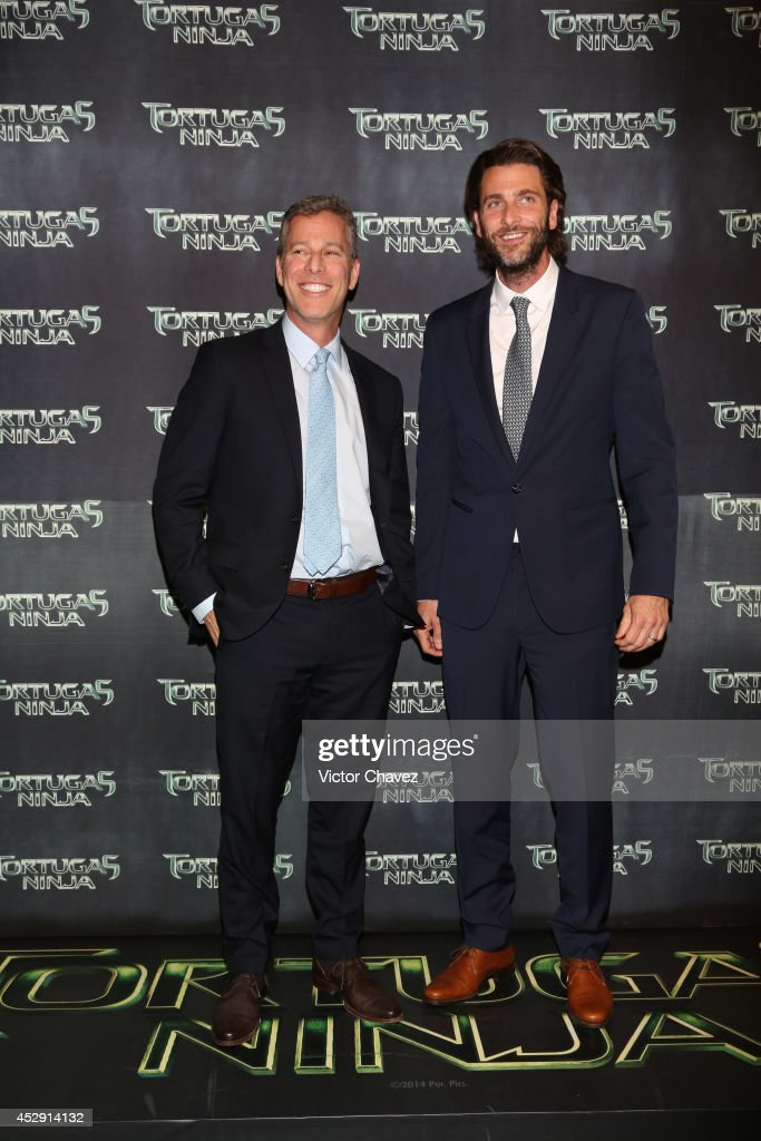 Producers Brad Fuller and Andrew Form attend the Latin American Premiere of Paramount Pictures' 'Teenage Mutant Ninja Turtles' at Cinepolis Acoxpa, on July 29, 2014 in Mexico City, Mexico.