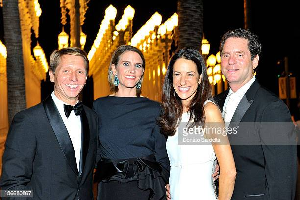 Producers Bradley Bell Colleen Bell Jane Ross and Jimmy Yaffe attend the LACMA 2013 Art Film Gala honoring Martin Scorsese and David Hockney...