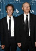 Producers Brian Grazer and Ron Howard attend the Simon Wiesenthal Center's 2010 Humanitarian Award ceremony at the Beverly Wilshire hotel on May 5...