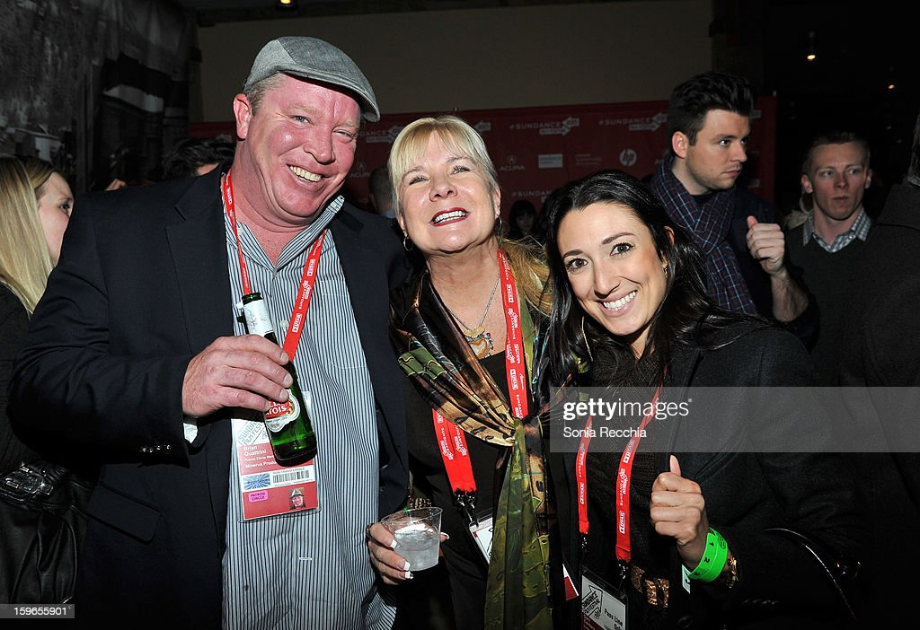 Producers Brian Quattrini and Anne O'Shea and Dani Cordaro attend the Day One Party during the 2013 Sundance Film Festival at Legacy Lodge on January 17, 2013 in Park City, Utah.