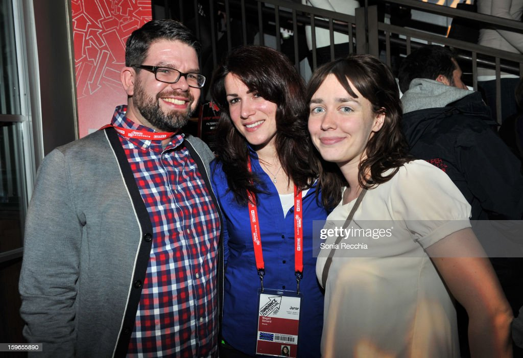 Producers Brian Quattrini, Magali Simard and Dana Cordaro attend the Day One Party during the 2013 Sundance Film Festival at Legacy Lodge on January 17, 2013 in Park City, Utah.