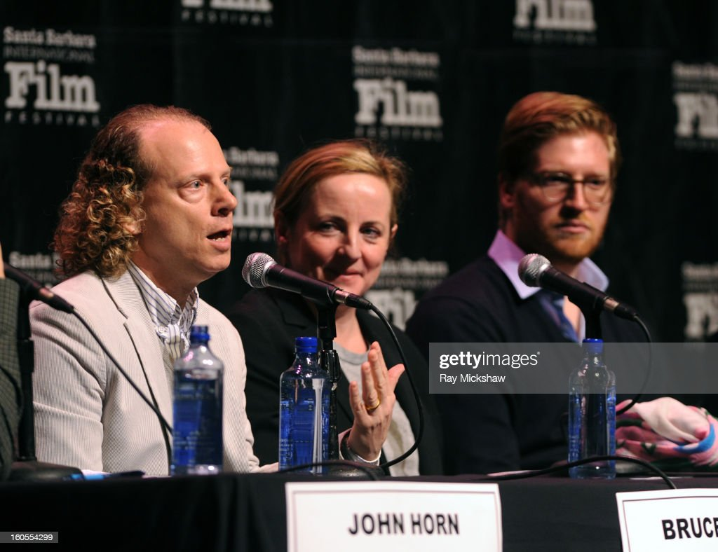 Producers <a gi-track='captionPersonalityLinkClicked' href=/galleries/search?phrase=Bruce+Cohen&family=editorial&specificpeople=820103 ng-click='$event.stopPropagation()'>Bruce Cohen</a>, Debra Hayward and Dan Janvey attend the 28th Santa Barbara International Film Festival Producers Panel on February 1, 2013 in Santa Barbara, California.