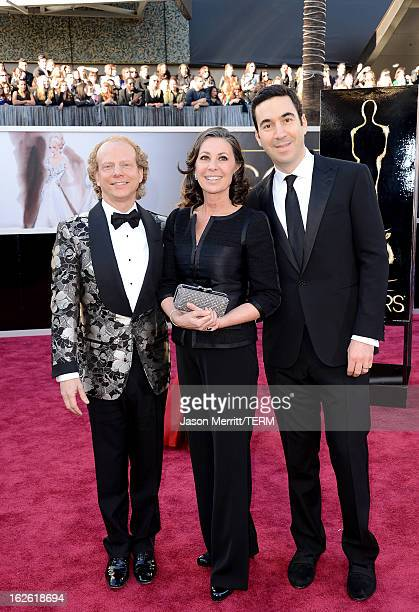 Producers Bruce Cohen Donna Gigliotti and Jonathan Gordon arrive at the Oscars at Hollywood Highland Center on February 24 2013 in Hollywood...