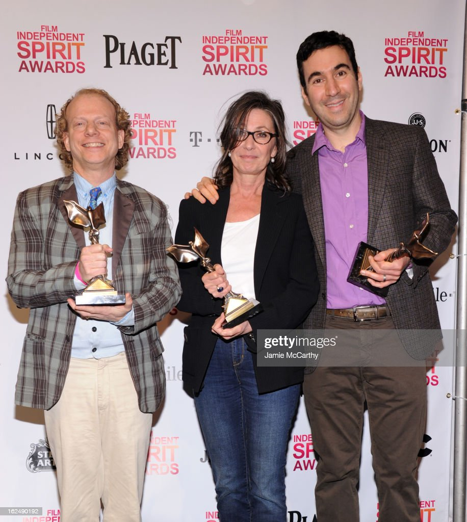 Producers Bruce Cohen, Donna Gigliotti and Jonathan Gordon attend the 2013 Film Independent Spirit Awards After Party hosted by Microsoft Windows Phone at The Bungalow at The Fairmont Hotel on February 23, 2013 in Santa Monica, California.