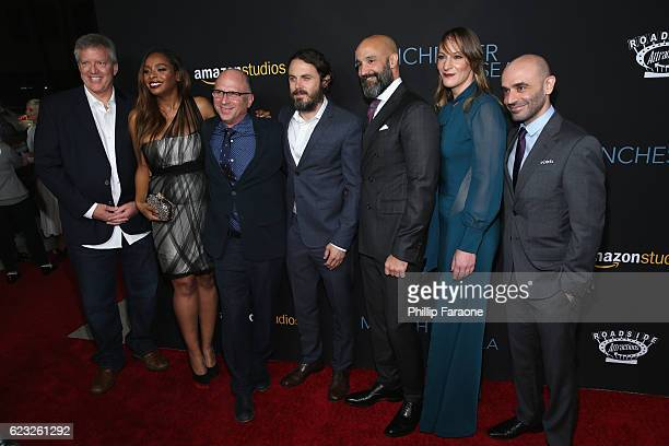 Producers Chris Moore Kimberly Steward Head of Marketing and Distribution Amazon Studios Bob Berney actor Casey Affleck Head of Worldwide Film Amazon...