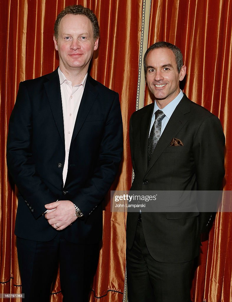 Producers Colin Ingram and Donovan Mannato attend the 'Breakfast At Tiffany's' Press Preview at Cafe Carlyle on February 27, 2013 in New York City.