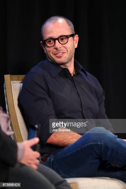 Producers Damon Lindelof speaks onstage during the 'Damon Lindelof and Mike Schur Discuss TV ' panel part of Vulture Festival LA Presented by ATT at...