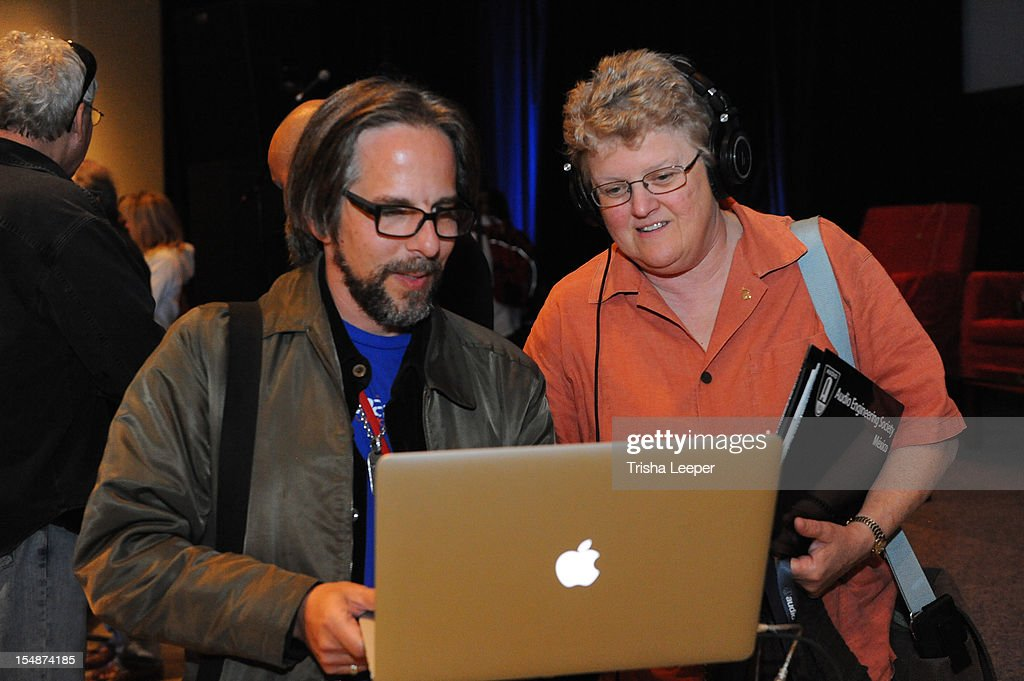 Producers Dave Reitas and Director of Music & Recording for Skywalker Sounds Leslie Ann Jones attend GRAMMY SoundTables: Sonic Imprints-Songs That Changed My Life at The Moscone Center on October 27, 2012 in San Francisco, California.