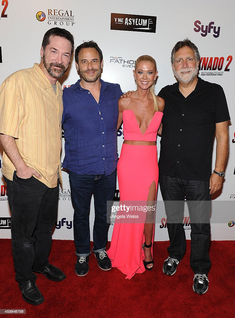 Producers David Latt, David Rimawi, actress <a gi-track='captionPersonalityLinkClicked' href=/galleries/search?phrase=Tara+Reid&family=editorial&specificpeople=202160 ng-click='$event.stopPropagation()'>Tara Reid</a> and producer David Garber attend the premiere of The Asylum & Fathom Events' 'Sharknado 2: The Second One' at Regal Cinemas L.A. Live on August 21, 2014 in Los Angeles, California.