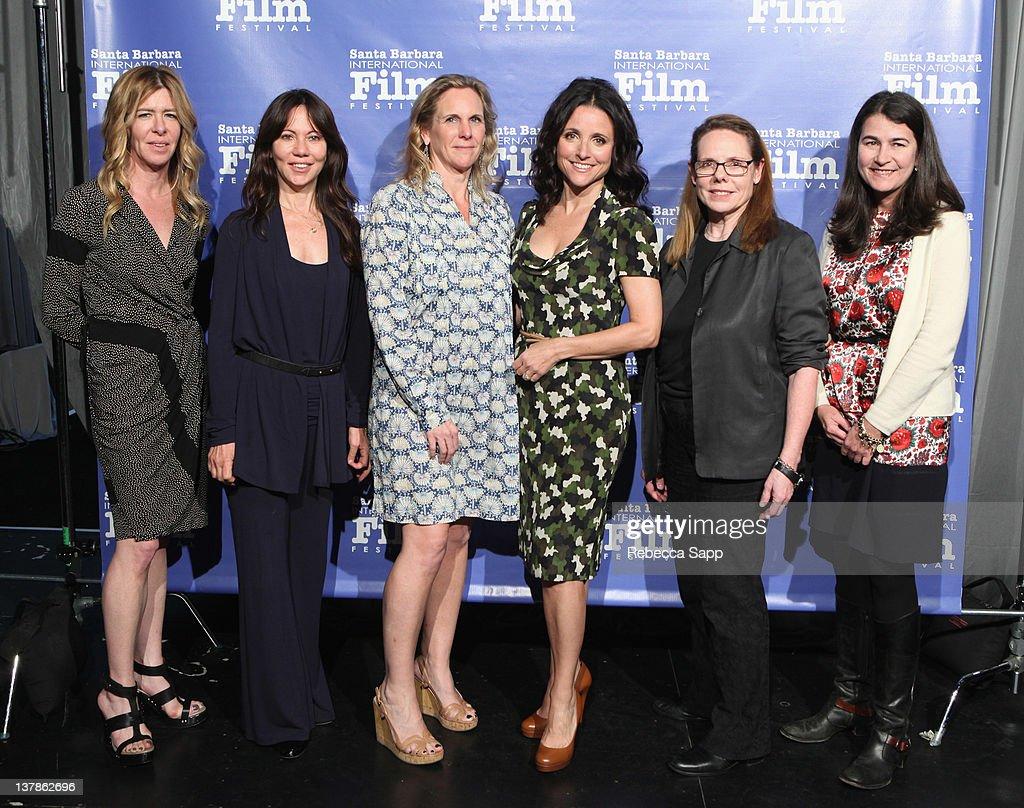 "Producers Dede Gardner of ""Tree of Life"" Leslie Urdang of ""Beginners"" Melissa Cobb of ""Kung Fu Panda 2"" Julia LouisDreyfus of ""Picture Paris""..."