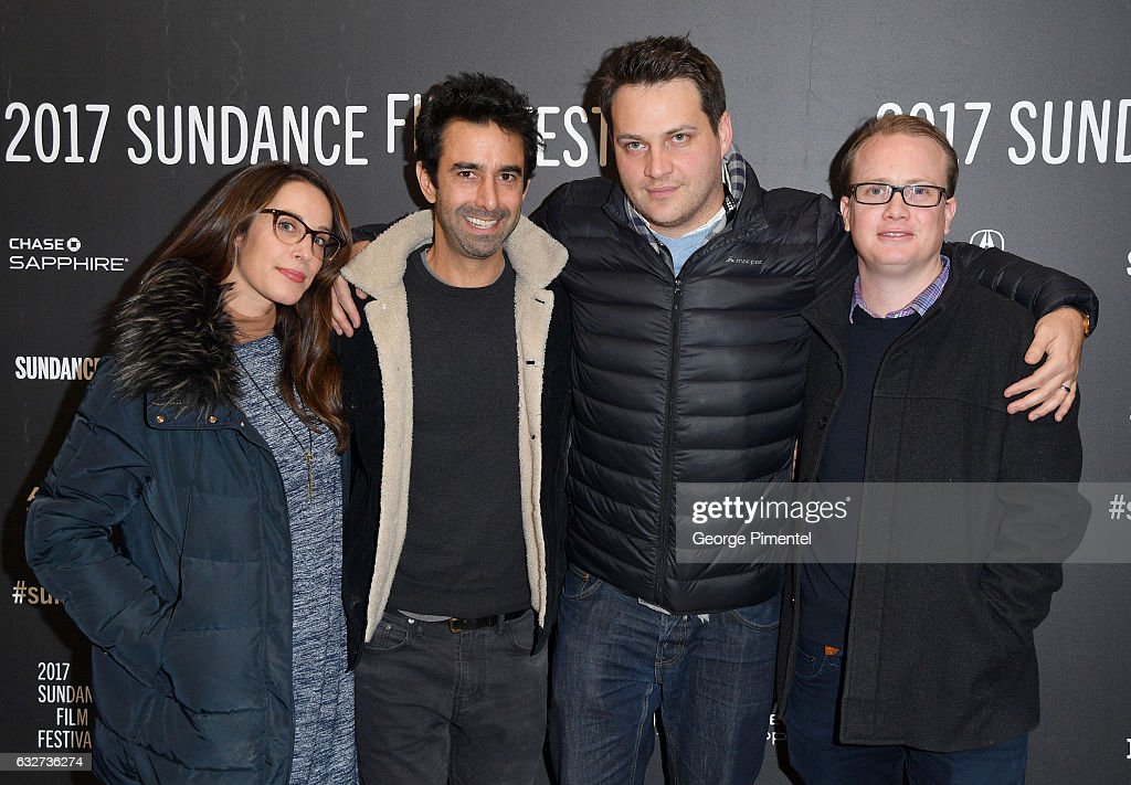 Producers Elizabeth Grave, Robert George, Michael Pruss, and John Finemore attend the 'Newness' Premiere on day 7 of the 2017 Sundance Film Festival at Eccles Center Theatre on January 25, 2017 in Park City, Utah.