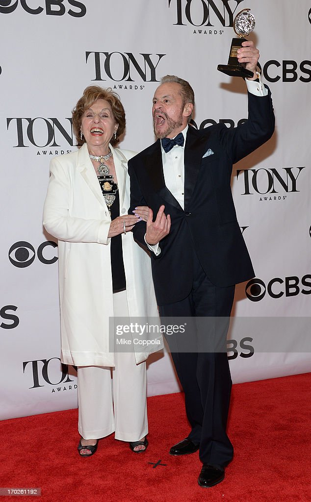 Producers Fran Weissler and Barry Weissler, winners of the Tony Award for Best Revival of a Musical for 'Pippin,' pose in the press room at The 67th Annual Tony Awards at Radio City Music Hall on June 9, 2013 in New York City.