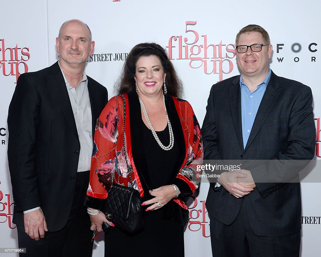 Producers Gary Ellis, Adelle Toussaint and Ralph Iantosca attends the '5 Flights Up' New York premiere at BAM Rose Cinemas on April 30, 2015 in New York City.