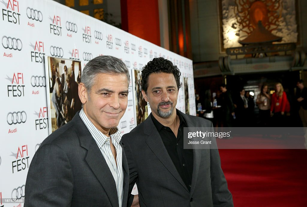 Producers <a gi-track='captionPersonalityLinkClicked' href=/galleries/search?phrase=George+Clooney&family=editorial&specificpeople=202529 ng-click='$event.stopPropagation()'>George Clooney</a> (L) and <a gi-track='captionPersonalityLinkClicked' href=/galleries/search?phrase=Grant+Heslov&family=editorial&specificpeople=607201 ng-click='$event.stopPropagation()'>Grant Heslov</a> attend the premiere of The Weinstein Company's 'August: Osage County' during AFI FEST 2013 presented by Audi at TCL Chinese Theatre on November 8, 2013 in Hollywood, California.