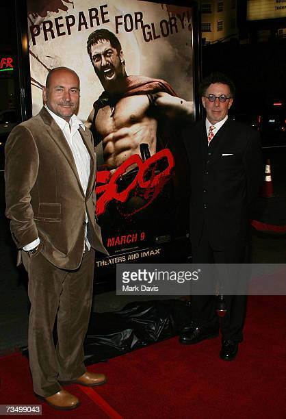Producers Gianni Nunnari and Mark Canton attend the Warner Bros premiere of '300' held at Grauman's Chinese theater on March 5 2007 in Hollywood...