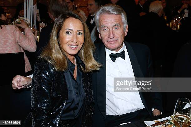 Producers Gilbert and Nicole Coullier attend the David Khayat Association 'AVEC' Gala Dinner Held at Versailles Castle on February 2 2015 in...