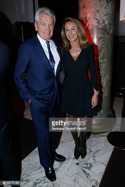 Producers Gilbert Coullier and his wife Ncole attend the 'Diner des amis de Care' for the 70th anniversary of the Association Held at Espace Cambon...