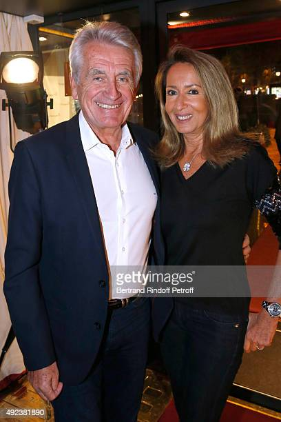 Producers Gilbert Coullier and his wife Nicole attend the Fouquet's Paris Restaurant presents its Menu 'Twisted' by the Chef Pierre Gagnaire Held at...