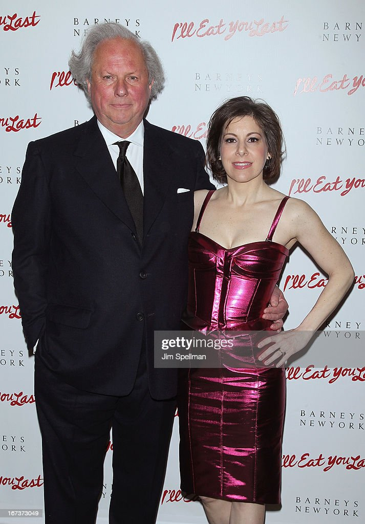 Producers Graydon Carter and Arielle Tepper Madover attend the 'I'll Eat You Last' Broadway Opening Night at the Booth Theatre on April 24 2013 in...