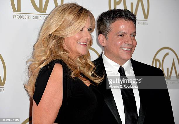 Producers Guild Awards CoChairs Lori McCreary and Michael De Luca attend the 25th annual Producers Guild of America Awards at The Beverly Hilton...