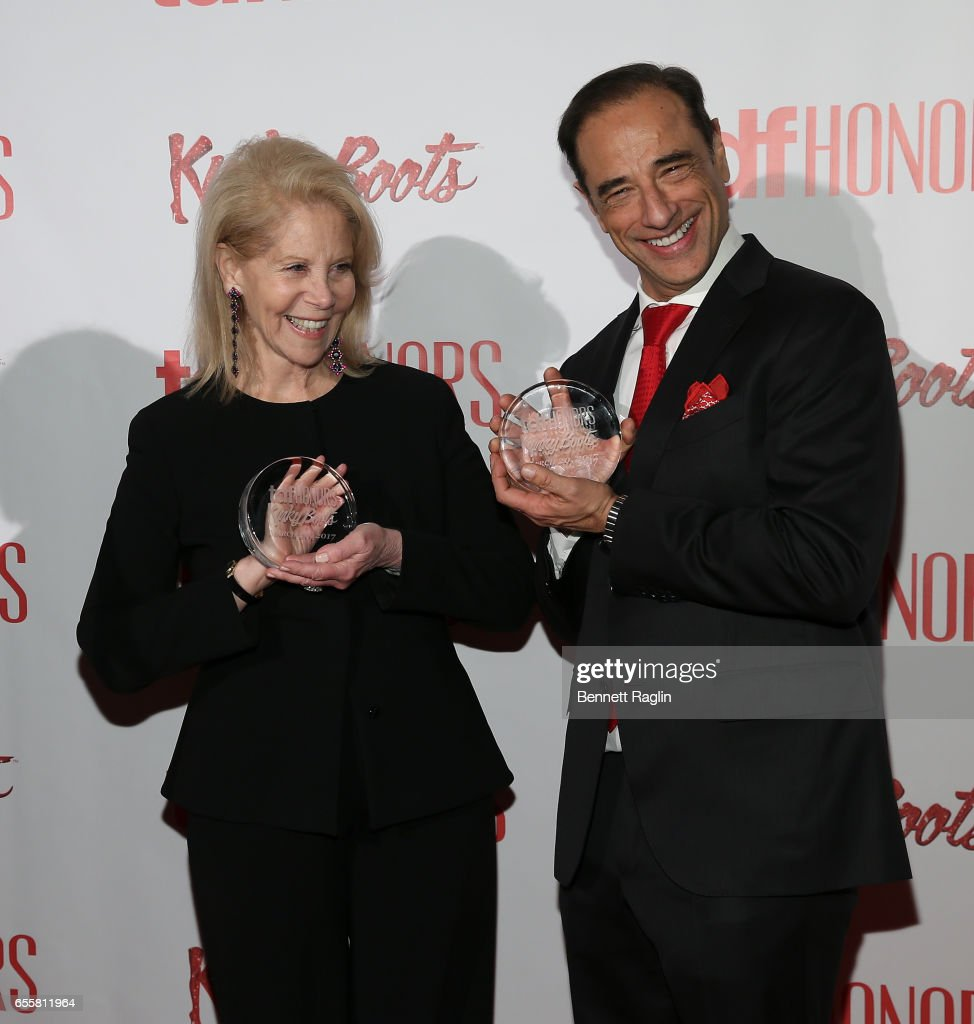 Producers Hal Luftig and Daryl Roth attend TDF Honors Broadway's 'Kinky Boots' at Marriott Marquis Times Square on March 20, 2017 in New York City.