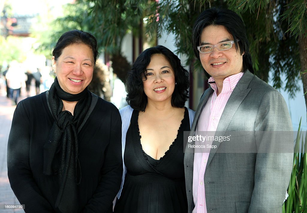 Producers IQ de Vera, Fides Enriquez and Florante Aguilar of the film 'Harana' attend the 28th Santa Barbara International Film Festival on January 30, 2013 in Santa Barbara, California.