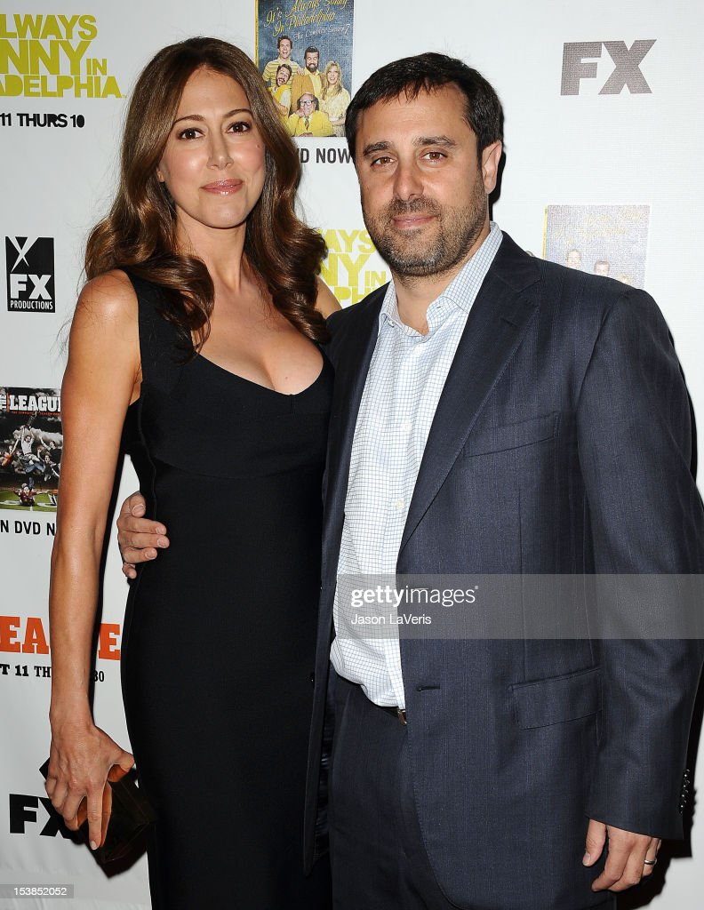 Producers Jackie Marcus Schaffer and Jeff Schaffer attend the FX season premiere screenings for 'It's Always Sunny In Philadelphia' and 'The League' at ArcLight Cinemas Cinerama Dome on October 9, 2012 in Hollywood, California.