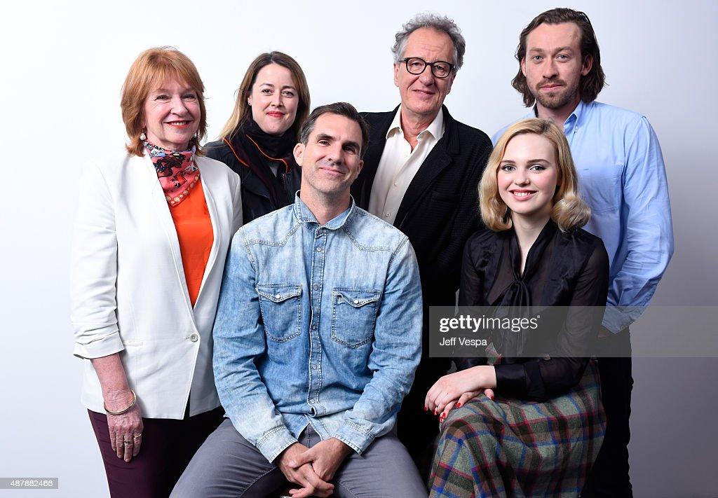 Producers Jan Chapman, Nicole O'Donohue, actors Geoffrey Rush, Simon Stone and (Front L-R) actors Paul Schneider and Odessa Young from 'The Daughter' pose for a portrait during the 2015 Toronto International Film Festival at the TIFF Bell Lightbox on September 12, 2015 in Toronto, Canada.