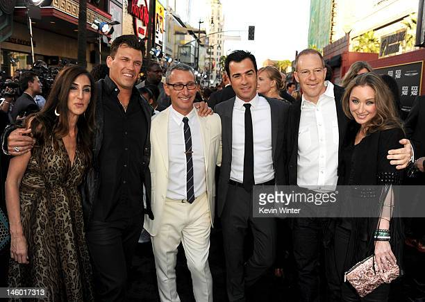 Producers Jennifer Gibgot and Garrett Grant director Adam Shankman writer Justin Theroux President and COO for New Line Cinema Toby Emmerich and...