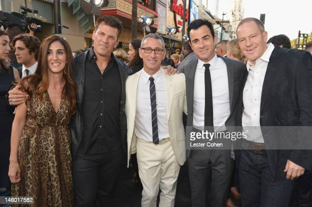 Producers Jennifer Gibgot and Garrett Grant director Adam Shankman writer Justin Theroux and President and COO for New Line Cinema Toby Emmerich...