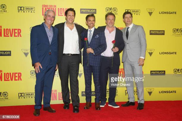 Producers Jim Macnamara Paul Eugenio Derbez producer Ben Odell and film director Ken Marino attend the 'How To Be A Latin Lover' Mexico City premiere...