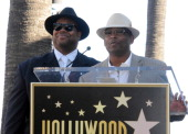 Producers Jimmy Jam and Terry Lewis at the Boyz II Men Hollywood Walk Of Fame ceremony held at 7060 Hollywood Blvd on January 5 2012 in Hollywood...