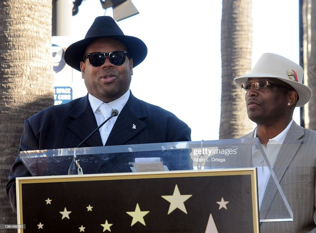 Producers Jimmy Jam and Terry Lewis at the Boyz II Men Hollywood Walk Of Fame ceremony held at 7060 Hollywood Blvd on January 5, 2012 in Hollywood, California.