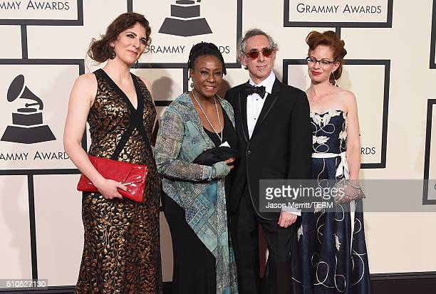 Producers Jocelyn Arem Geri Allen Steve Rosenthal and Jessica Thompson attend The 58th GRAMMY Awards at Staples Center on February 15 2016 in Los...