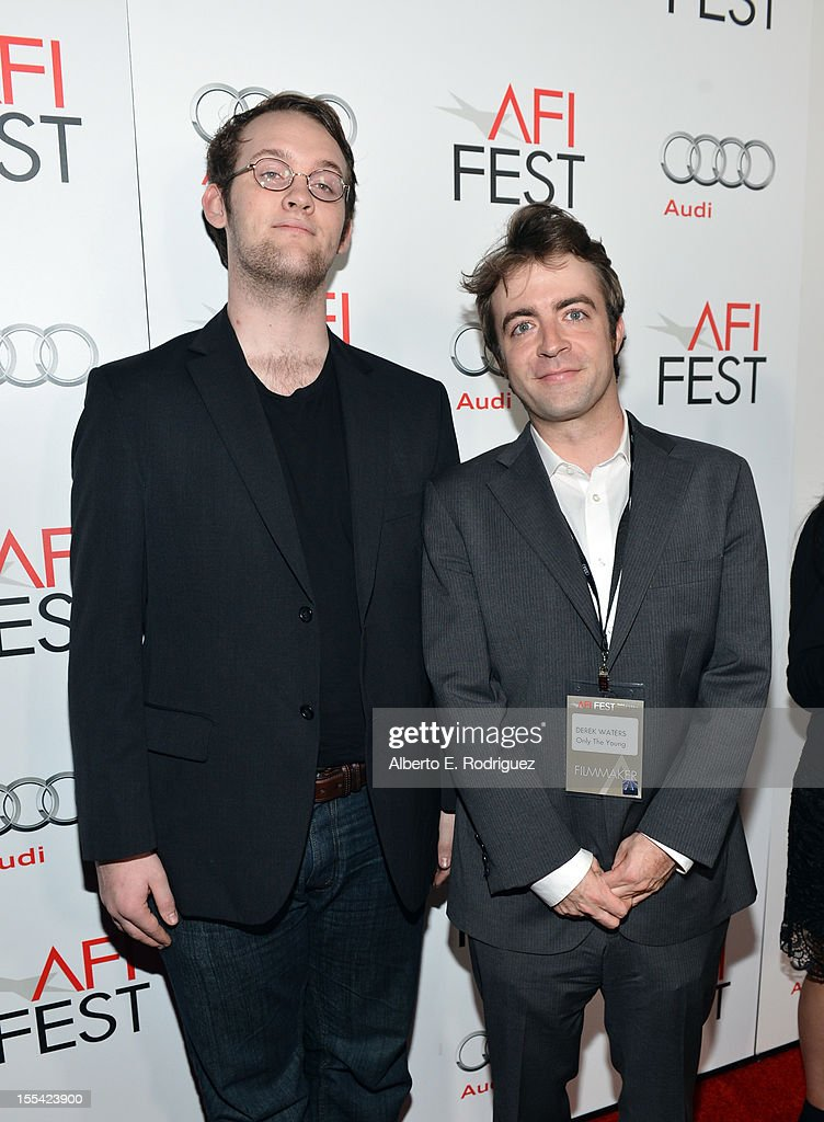 Producers John Kaulakis (L) and Derek Waters arrive at the 'Holy Motors' special screening during the 2012 AFI Fest at Grauman's Chinese Theatre on November 3, 2012 in Hollywood, California.