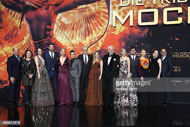Producers John Kilik Nina Jacobson actors Jena Malone Liam Hemsworth Jennifer Lawrence Josh Hutcherson director Francis Lawrence actors Willow...